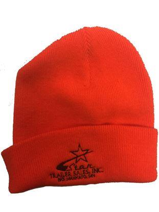Star Trailer Orange Stocking Hat