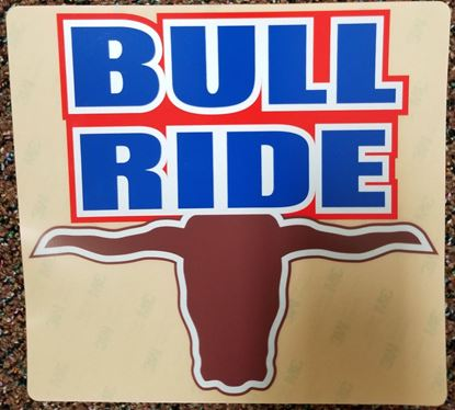Picture of Decal Bullride 7 x 8 Poly