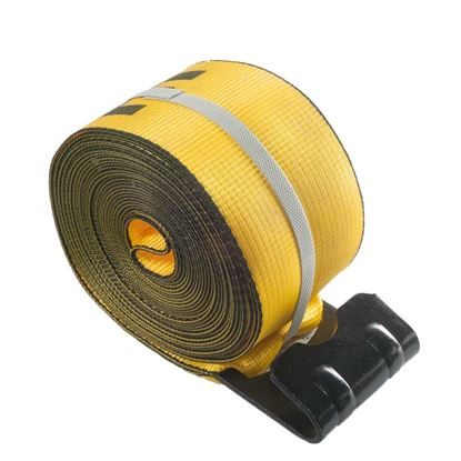 "Picture of 4"" x 27' Straps with Flat Hook - Yellow"