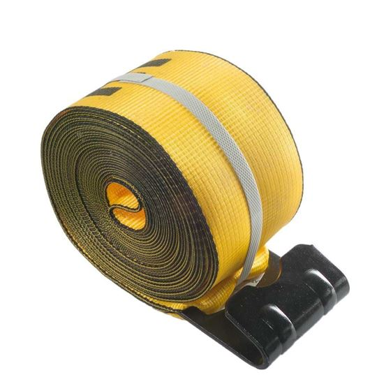 """Picture of 4"""" x 27' Straps with Flat Hook - Yellow"""
