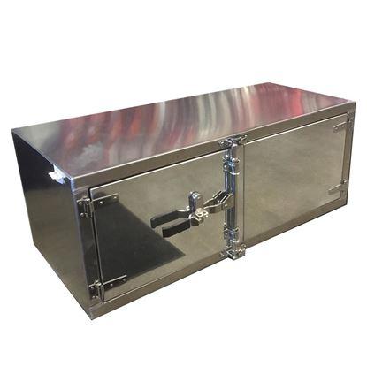 "Picture of 18"" x 18"" x 60"" Aluminum Double Door Cam Lock Toolbox"