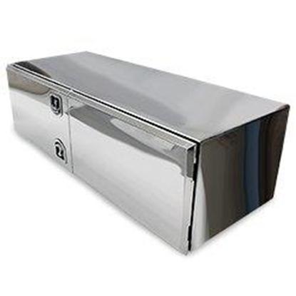 """Picture of Box, Aero, Alum. Mill/Pol Door Double Door, 18"""" x 24"""" x 60"""""""